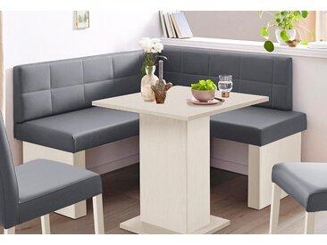 SCHÖSSWENDER Eckbank Anna 2, Schenkel gleichschenkelig 130 cm B/H/T: x 83 cm, Kunstleder weiß Eckbänke Sitzbänke Stühle