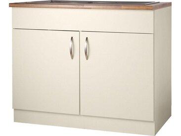 wiho Küchen Spülenschrank Peru B/H/T: 100 cm x 85 60 beige Spülenschränke Küchenschränke Küchenmöbel