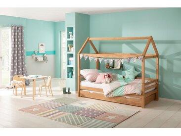 Lüttenhütt Kinderbett Alpi 90x200 cm Höhe Bettseite: 36 beige Kinder Kinderbetten Kindermöbel Betten