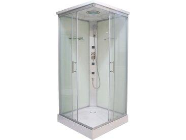 Sanotechnik Komplettdusche Twist 2, inkl. Kopf-Regenbrause B/H: 90 cm x 215 cm, beidseitig montierbar silberfarben Duschkabinen Duschen Bad Sanitär