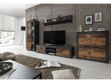 Wilmes Wohnwand (Set, 4-tlg) Einheitsgröße grau Wohnwände SOFORT LIEFERBARE Möbel Kastenmöbel-Sets