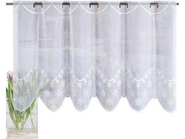 HOME WOHNIDEEN Scheibengardine ADRIANE, HxB: 45x130, bestickt 45 cm, Stangendurchzug, 130 cm beige Wohnzimmergardinen Gardinen nach Räumen Vorhänge