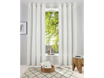 OTTO products Gardine Lasse 145 cm, Ösen, 140 cm weiß Blickdichte Vorhänge Gardinen