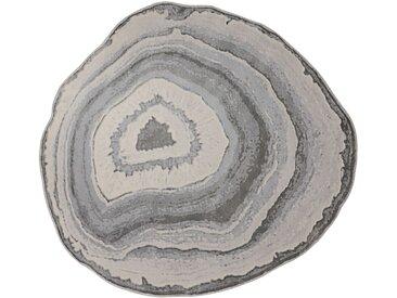 Teppich Quarzstein Design 4, ca. 160 cm, rund grau Runde Teppiche Weitere