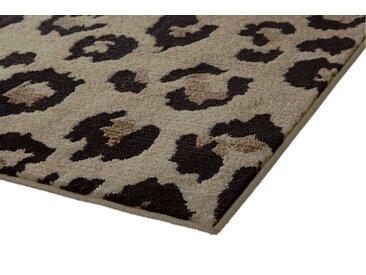 Teppich Leoparden Design 9, ca. 200 cm, rund beige Runde Teppiche Weitere