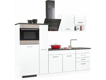 HELD MÖBEL Küchenzeile Haiti, ohne E-Geräte, Breite 250 cm B: weiß Küchenzeilen Geräte -blöcke Küchenmöbel