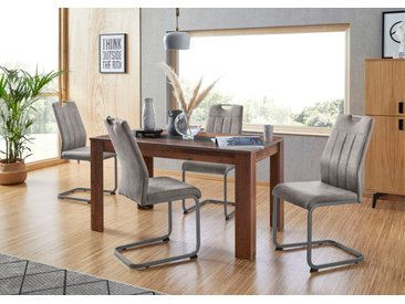 HELA Essgruppe, (Set, 5 tlg.), bestehend aus 4 Stühle & 1x Tisch Einheitsgröße grau Essgruppen Tische Sitzmöbel-Sets