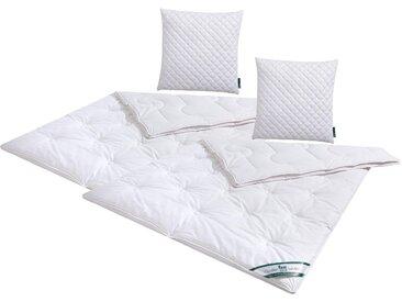 Naturfaserbettdecke + Kopfkissen, Baumwolle, f.a.n. Frankenstolz, (Spar-Set) weiß, 2x 135x200 cm 80x80 weiß Naturfaser Bettdecke Bettdecken Bettdecken, Kopfkissen Unterbetten Bettwaren-Sets