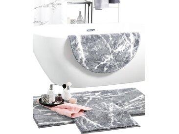 Grund Badeteppich 5 50x50 cm, WC-Vorlage ohne Ausschnitt grau Gemusterte Badematten Badgarnituren