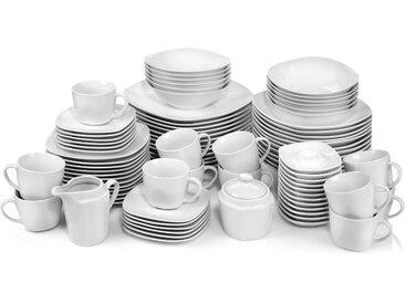 SÄNGER Kombiservice Bilgola (86-tlg.), Porzellan Einheitsgröße weiß Geschirr-Sets Geschirr, Tischaccessoires Haushaltswaren