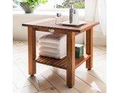 Destiny Badhocker SPA Hocker/Tisch geriffelt mit Ablagefläche B/H/T: 46 cm x 44 32,5 beige Bänke Sofort lieferbar Badezimmer Möbel sofort