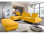 W.SCHILLIG Sitzauflage miles, Steckrücken für Longchair miles B/H/T: 64 cm x 46 18 cm, Longlife Xtra-Leder Z73 gelb Made in Germany - Möbel