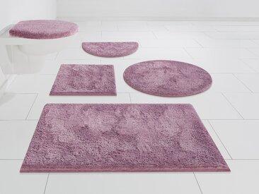 my home Badematte Jos, Höhe 22 mm, Pastell 4, rechteckig 70x110 cm, mm rot Einfarbige Badematten
