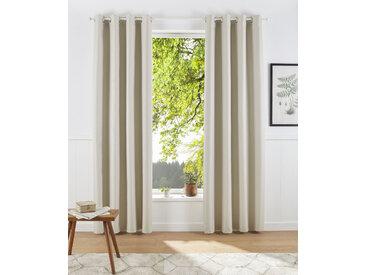 elbgestoeber Verdunkelungsvorhang Elbmantel 175 cm, Ösen, 140 cm beige Wohnzimmergardinen Gardinen nach Räumen Vorhänge
