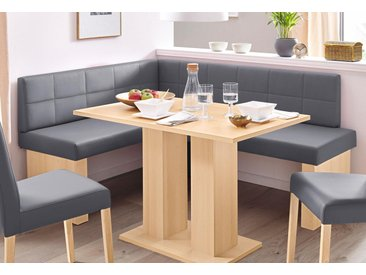 SCHÖSSWENDER Eckbank Anna 2, Breite 169 cm B/H/T: 130 x 83 cm, Kunstleder, langer Schenkel rechts beige Eckbänke Sitzbänke Stühle