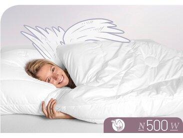 Schlafstil Naturhaarbettdecke N500, (1 St.) weiß, 155x200 cm weiß Allergiker Bettdecke Bettdecken Bettdecken, Kopfkissen Unterbetten