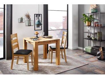 Holzzone Esszimmerstuhl York 2 Stück schwarz Holzstühle Stühle Sitzbänke