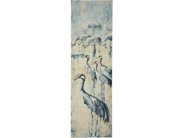 Guido Maria Kretschmer Home&Living Bild Kraniche 60x200 cm blau Leinwandbilder Bilder Bilderrahmen Wohnaccessoires