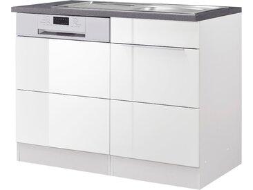 HELD MÖBEL Spülenschrank Brindisi, Breite 110 cm x 85 60 (B H T) cm, 1-türig weiß Spülenschränke Küchenschränke Küchenmöbel Schränke