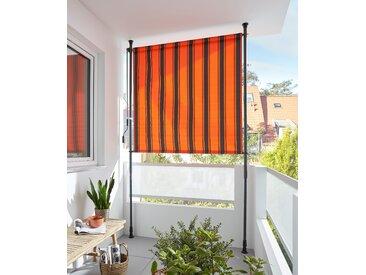 KONIFERA Senkrechtmarkise Klemmmarkise, BxH: 150x225 cm, mit Teleskop-Funktion 150 cm orange Markisen Garten Balkon