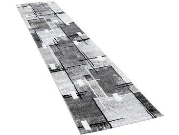 Paco Home Läufer Florenz, rechteckig, 16 mm Höhe, Designer Teppich mit Konturenschnitt B/L: 80 cm x 300 cm, 1 St. grau Teppichläufer Bettumrandungen Teppiche