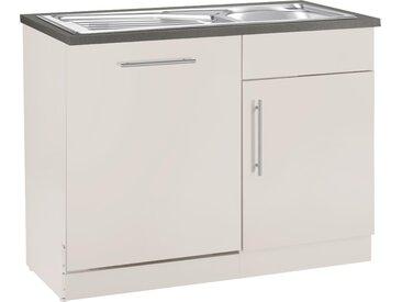 wiho Küchen Spülenschrank Cali, 110 cm breit, inkl. Tür/Sockel für Geschirrspüler x 85 60 (B H T) cm, 2-türig beige Spülenschränke Küchenschränke Küchenmöbel Schränke