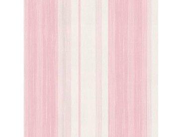 WOHNIDEE-Kollektion Vliestapete Streifen, Rosa/Weiss - 10m x 53 cm B/L: 0,52 m 10 m, 1 St. weiß Vliestapeten Tapeten Bauen Renovieren