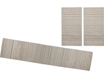 Bettumrandung Royal Berber Uni THEKO, Höhe 18 mm (3-tlg.) 14 (2x Brücke 140x70 cm & 1x Läufer 340x70 cm), beige Bettumrandungen Teppiche