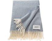 SCHÖNER WOHNEN-Kollektion Wohndecke Zen, mit Fransen B/L: 140 cm x 200 blau Baumwolldecken Decken