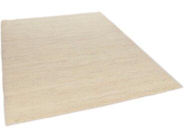 THEKO Wollteppich Hadj Uni, rechteckig, 25 mm Höhe, echter Berber, reine Wolle, handgeknüpft, Wohnzimmer B/L: 120 cm x 180 cm, 1 St. beige Esszimmerteppiche Teppiche nach Räumen