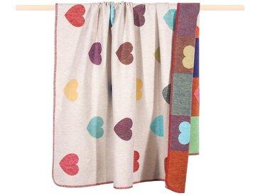 Wohndecke Honey, PAD 150x200 cm, Baumwolle-Kunstfaser bunt Baumwolldecken Decken Wohndecken