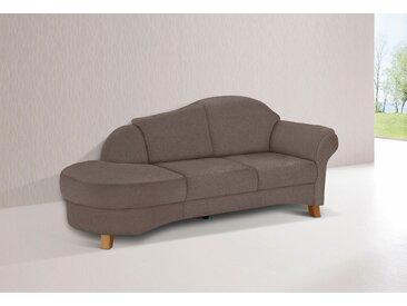Home affaire Recamiere Mayfair Struktur fein, 202 cm, Armlehne rechts braun Chaiselongues Recamieren Sofas Couches
