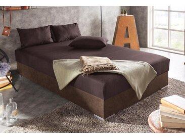 hapo Polsterliege, mit Bettkasten Liegefläche B/L: 120 cm x 200 cm, H2, Bonnell-Federkernmatratze braun Funktionsbetten Betten Schlafzimmer Polsterliege