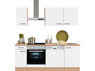 OPTIFIT Küchenzeile Odense, ohne E-Geräte, Breite 210 cm, mit 28 mm starker Arbeitsplatte, Gratis Besteckeinsatz B: cm weiß Küchenzeilen Geräte -blöcke Küchenmöbel