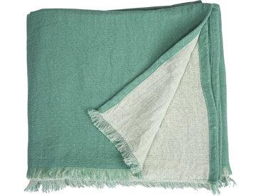 TOM TAILOR Plaid Fringed Cotton, mit Fransen B/L: 130 cm x 170 grün Baumwolldecken Decken