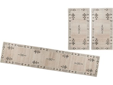 Bettumrandung Royal Berber THEKO, Höhe 18 mm (3-tlg.) 14 (2x Brücke 140x70 cm & 1x Läufer 340x70 cm), beige Getuftete Teppiche Orientteppich