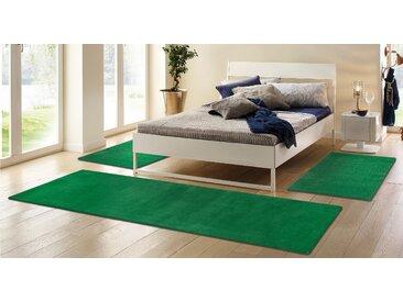 My HOME Bettumrandung Jescha B/L (Brücke): 70 cm x 140 (2 St.) (Läufer): 270 (1 St.), rechteckig grün Bettumrandungen Läufer Teppiche