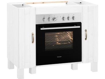 Home affaire Herdumbauschrank Alby 100 x 83 60 (B H T) cm, 2-türig weiß Umbauschränke Küchenschränke Küchenmöbel Schränke