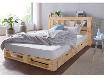 Palettenbett Alasco 140x200 cm beige Einzelbetten Betten