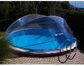 Clear Pool Poolüberdachung Cabrio Dome, ØxH: 300x145 cm B/H/L: 300 x 145 farblos Poolzubehör -reinigung Pools Planschbecken Garten Balkon