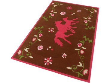 Kinderteppich, PF-103-01, Pferdefreunde, rechteckig, Höhe 10 mm, handgetuftet 4, 15x220 cm, mm braun Kinder Bunte Kinderteppiche Teppiche