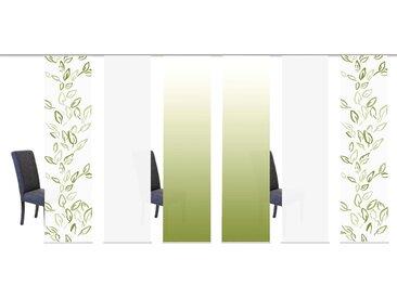 Schiebegardine, CONCORDO, HOME WOHNIDEEN, Klettband 6 Stück 1, H/B: 245/60 cm, blickdicht, grün Blickdichte Vorhänge Gardinen Gardine