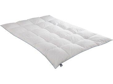 Gänsedaunenbettdecke, Luna, Irisette, Füllung: 100% Gänsedaunen, Bezug: Baumwolle weiß, 200x200 cm weiß Daunendecke Bettdecken Bettdecken, Kopfkissen Unterbetten Bettdecke
