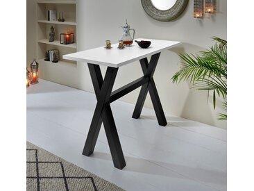Bartisch Tischplatte: Holzwerkstoff, Gestell: MDF, 140x70 cm, 140 cm weiß Bartische, Theken Tresen Barmöbel Küchenmöbel Tisch