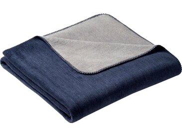 Wohndecke Duo, BIEDERLACK 150x200 cm, Baumwolle-Kunstfaser blau Baumwolldecken Decken Wohndecken