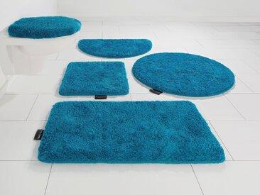 Badematte Lana, Bruno Banani, Höhe 25 mm, rutschhemmend beschichtet, fußbodenheizungsgeeignet 1, rechteckig 55x50 cm, mm blau Einfarbige Badematten