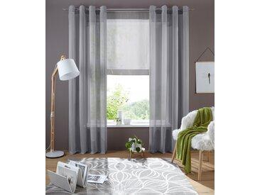 my home Bändchenrollo Xana, mit Stangendurchzug, 120 cm, 80 cm grau Wohnzimmergardinen Gardinen nach Räumen Vorhänge