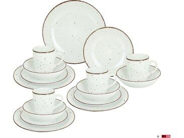 ARTE VIVA Kombiservice Puro, (Set, 32 tlg.), perlweiß, von Sternekoch Thomas Wohlfarter empfohlen Einheitsgröße weiß Geschirr-Sets Geschirr, Porzellan Tischaccessoires Haushaltswaren