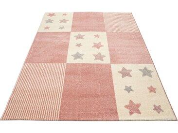 Lüttenhütt Kinderteppich Tilly, rechteckig, 14 mm Höhe, Motiv Sterne, Pastellfarben B/L: 200 cm x 300 cm, 1 St. rosa Kinder Bunte Kinderteppiche Teppiche