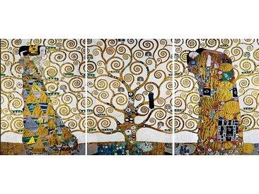Home affaire Wandbild KLIMT - Der Lebensbaum (Set) 60x80 cm braun Mehrteilige Bilder Bilderrahmen Wohnaccessoires